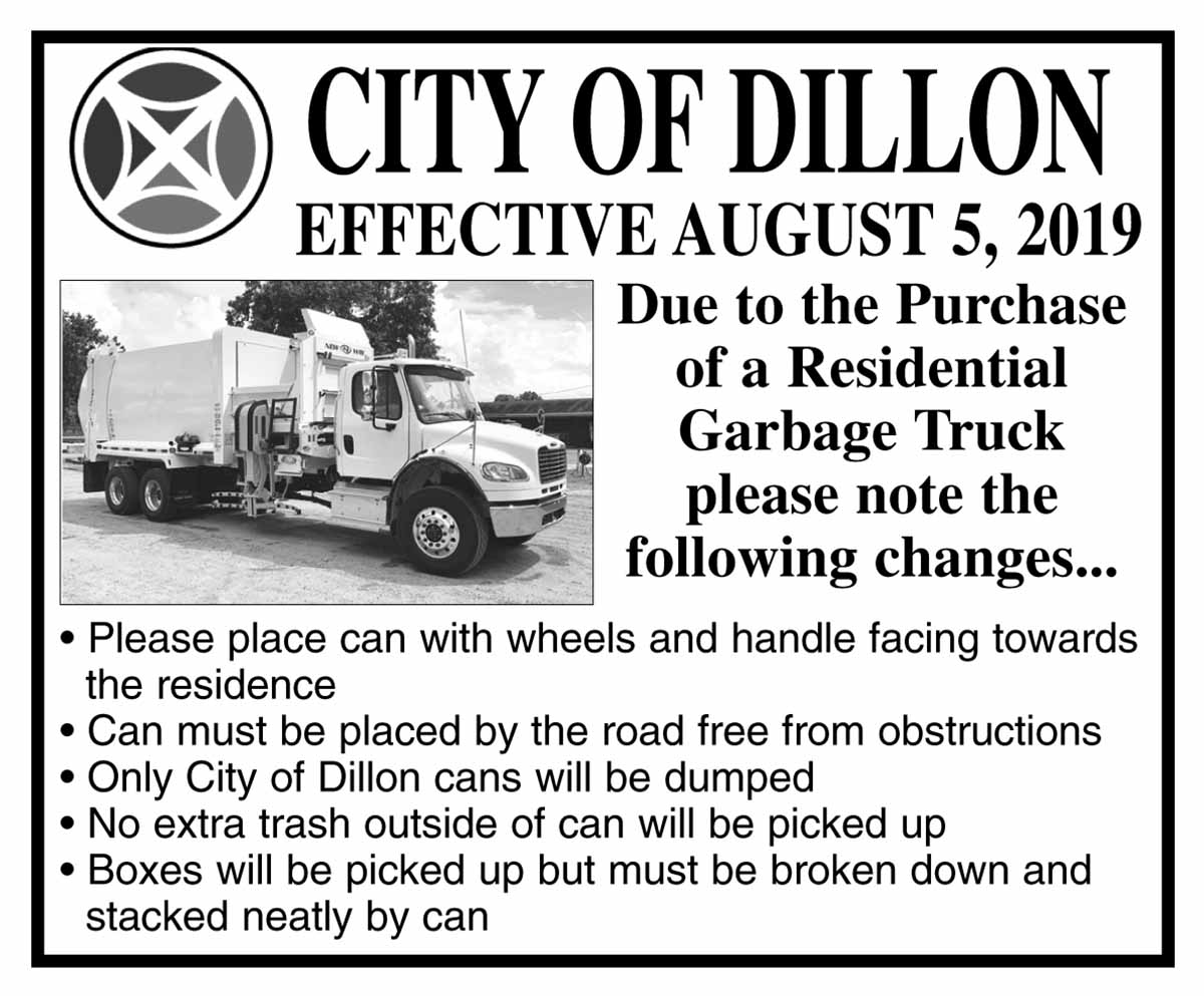 Public Works Trash Pickup Notice