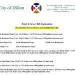 Water and sewer bill explanation 2019
