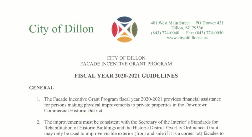 Facade Incentive Grant Program 2020-2021